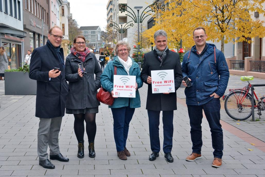 """hotspot.wesseling"" Kostenloses WLAN in der Wesselinger Innenstadt 1"