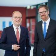 NetCologne Geschäftsführer Timo von Lepel (linke) und Claus van der Velden (rechts)