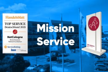 Top Service 2021: NetCologne erneut als kundenfreundlichster Telekommunikationsanbieter ausgezeichnet 1